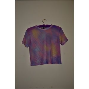 Paste tie dye jersey mesh crop top size M